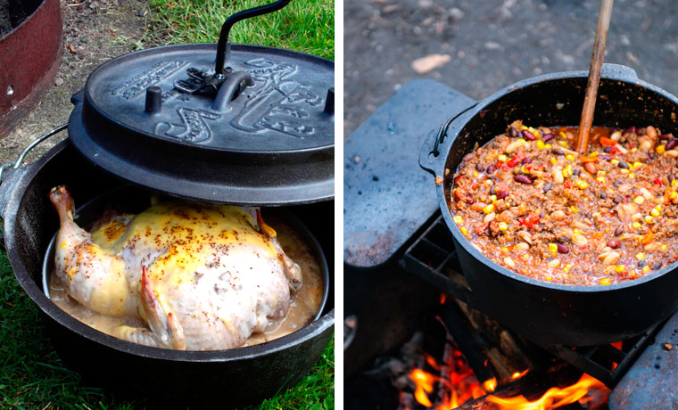 Camp dutch ovens cool of the wild for Dutch oven camping recipes for two